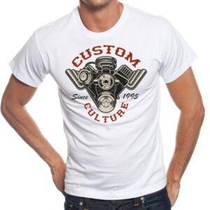 Camiseta estilo cool Custom Motor
