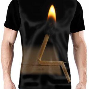 Camiseta personalizada original con cerilla