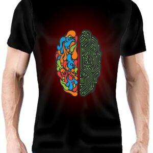 Camiseta cerebro dos emisferios