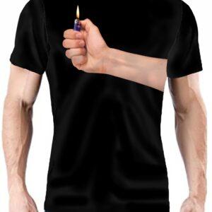 Camiseta brazo con mechero
