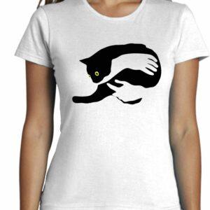 Camiseta abrazando el gato