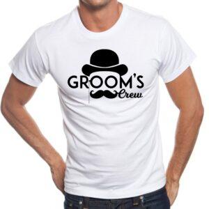 Camiseta personalizada con dibujos Groom´s crem