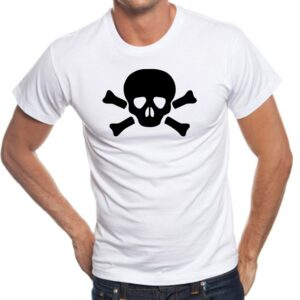 Camiseta calavera con huesos