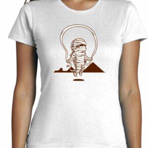 Camiseta minimalista entallada de mujer