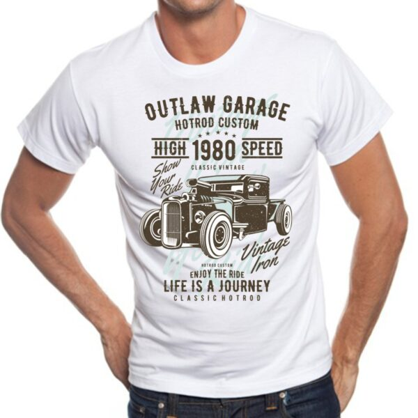 Camisetas cool fashion vintage Outlaw Garage
