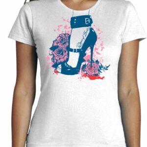 Camiseta Fashion Cool Con Tacon de aguja
