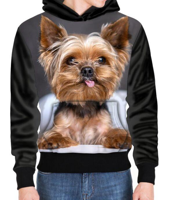 Sudadera con Capucha Sudadera Personalizada con imágenes de Yorkshire terrier