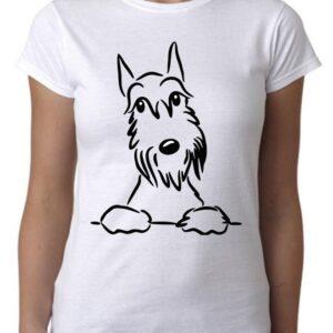 Camiseta minimalista cool con dibujo de perro