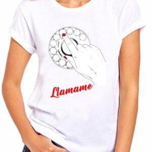 Camiseta personalizada con tu nombre en telefono