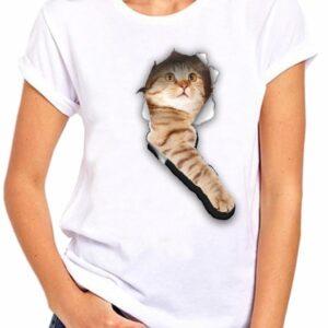 Camisetas con animales domésticos gato