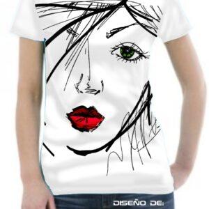 Camiseta con dibujo de mujer diseñador Ximp