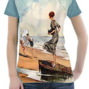 Camiseta vintage en la playa